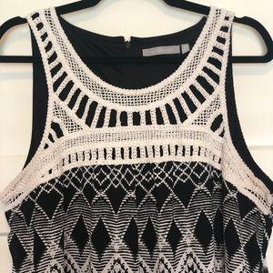 NY Collection Black & White Maxi Sleeveless Dress